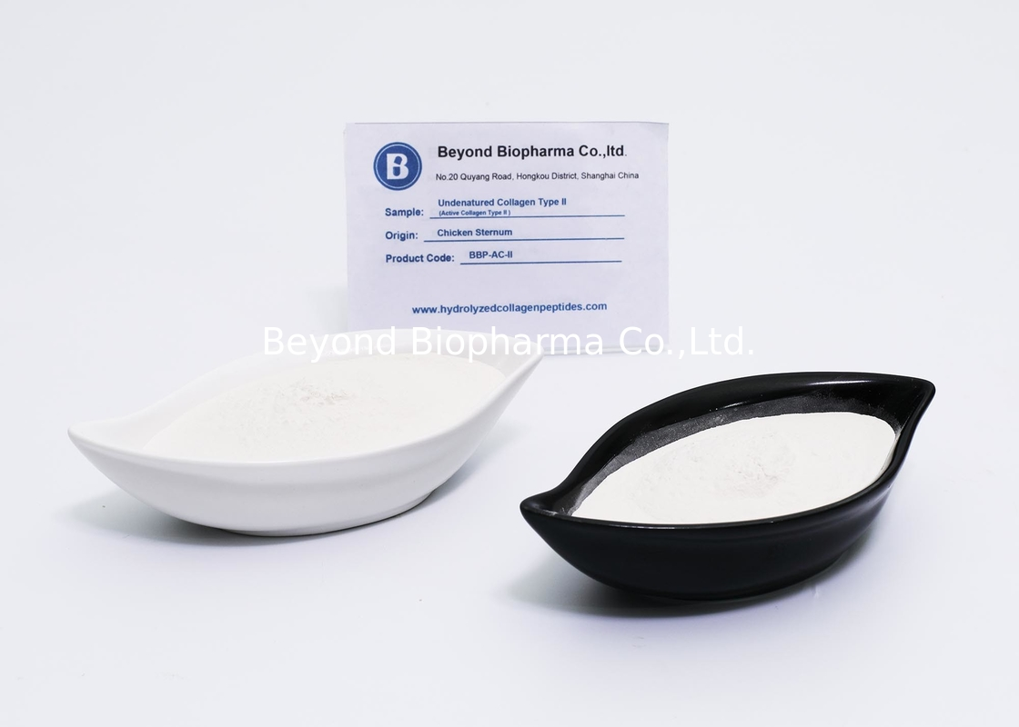 Highly Purified Undenatured Type 2 Chicken Collagen Peptides , White Type ii Collagen Powder