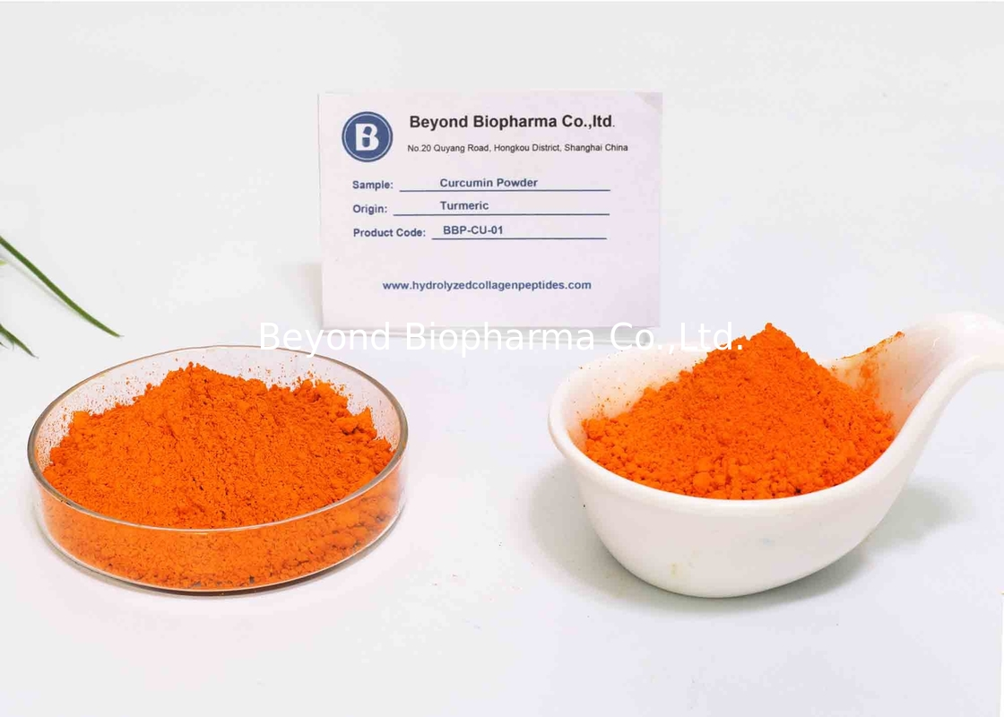 Food Grade 95% Curcumin Powder For Anti - Oxidation Supplements