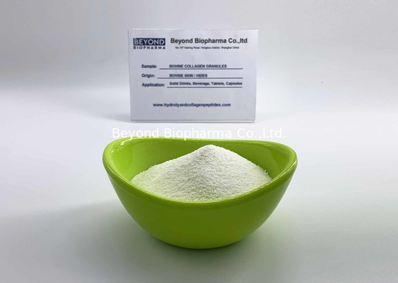 ISO9001 Verified Bovine Collagen Granule with Molecular weight of 1000-3000 Dalton